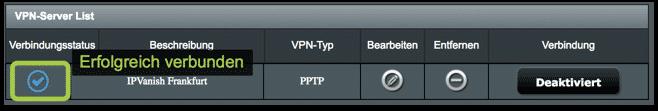 VPN-Verbindung - VERBUNDEN