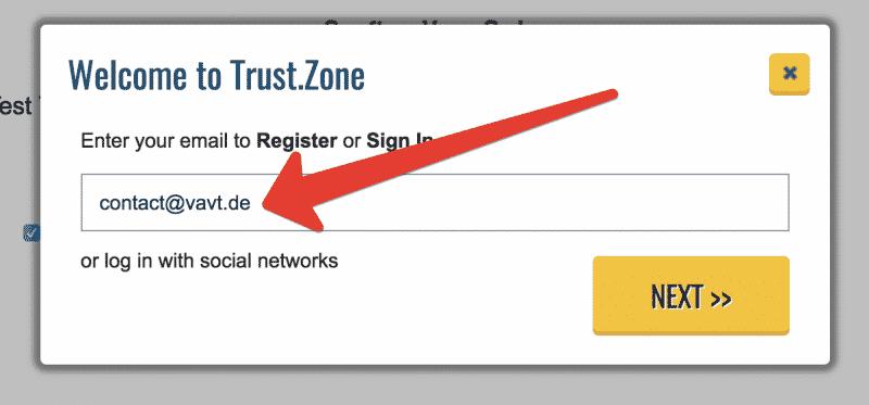 Anleitung Trust.Zone VPN testen Schritt 3