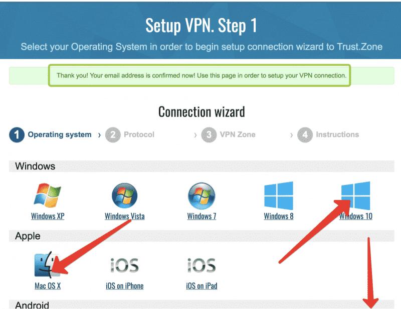 Anleitung Trust.Zone VPN testen Schritt 6