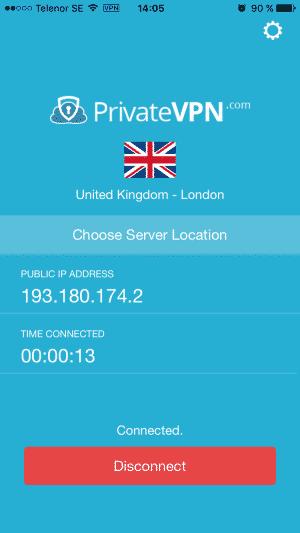 PrivateVPN für Apple iOS