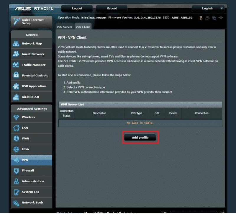 Surfshark Anleitung für ASUS Router 4