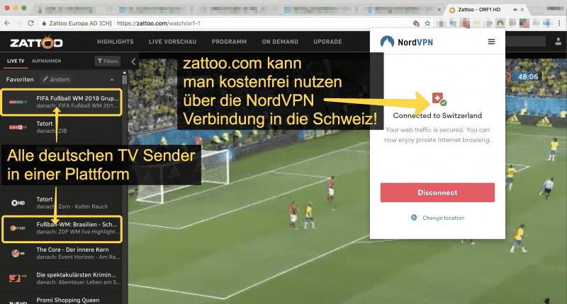 zattoo.com - FIFA 2018 im Ausland verfolgen!