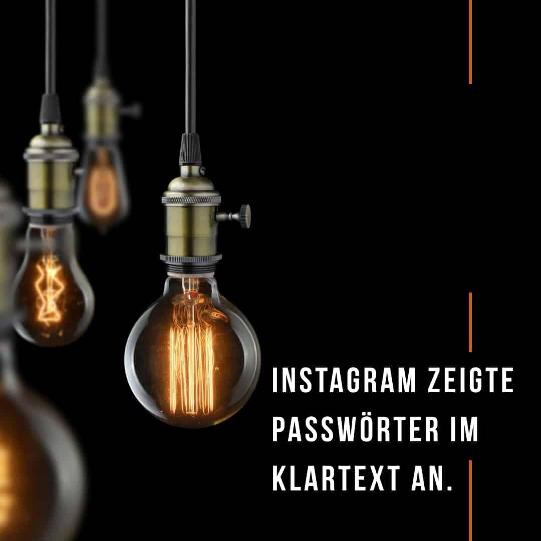 Datenpanne bei Instagram: User-Passwörter wurden unverschlüsselt angezeigt & an Facebook-Server übermittelt