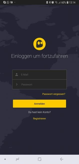 CyberGhost für Android