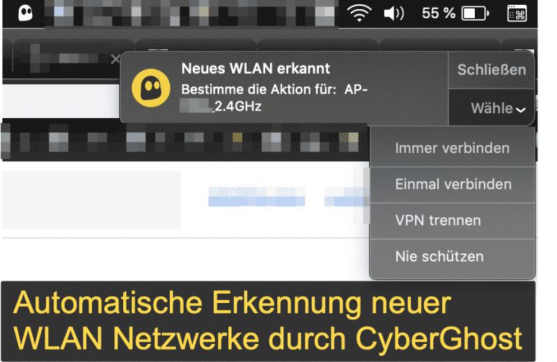 CyberGhost 7 - Neues Wifi Netzwerk