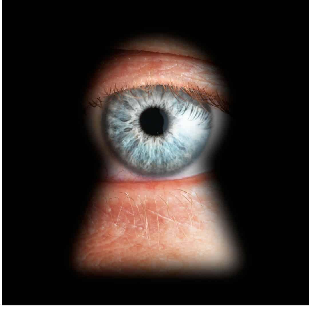 Auge Schlüsselloch