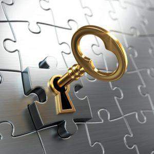 Schlüssel im Schloß
