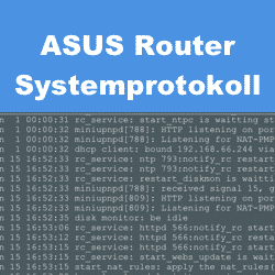 ASUS Router Systemprotokoll finden