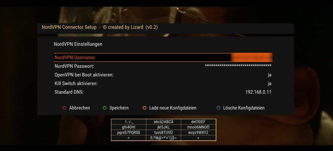 NordVPN Einstellungen auf Enigma2