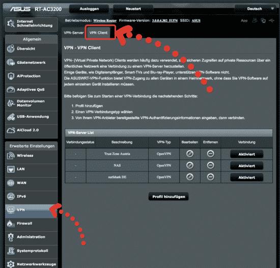 VPN-Client Funktion
