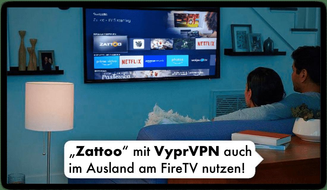 Zattoo mit VyprVPN am FireTV auch im Ausland nutzen!