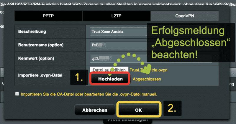 Anleitung: Trust.Zone VPN auf einem ASUS Router einrichten. (Kostenlos testen) 10