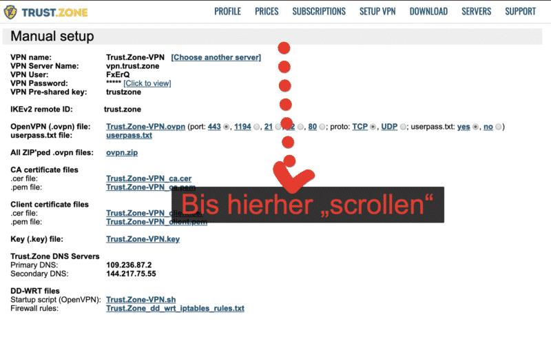 """Bis zum Ende """"scrollen"""""""