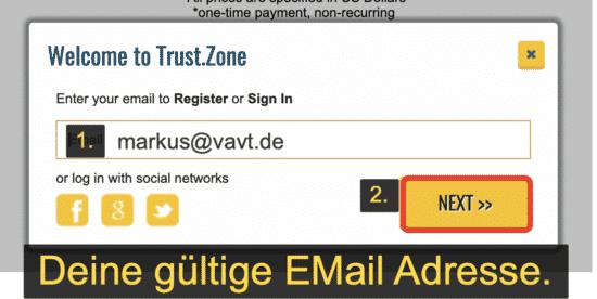 Eine gültige E-Mail Adresse eingeben