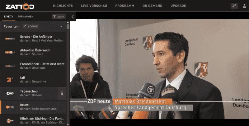 zattoo.com Mehr als 85 deutschsprachige TV Kanäle in einem Portal sehen