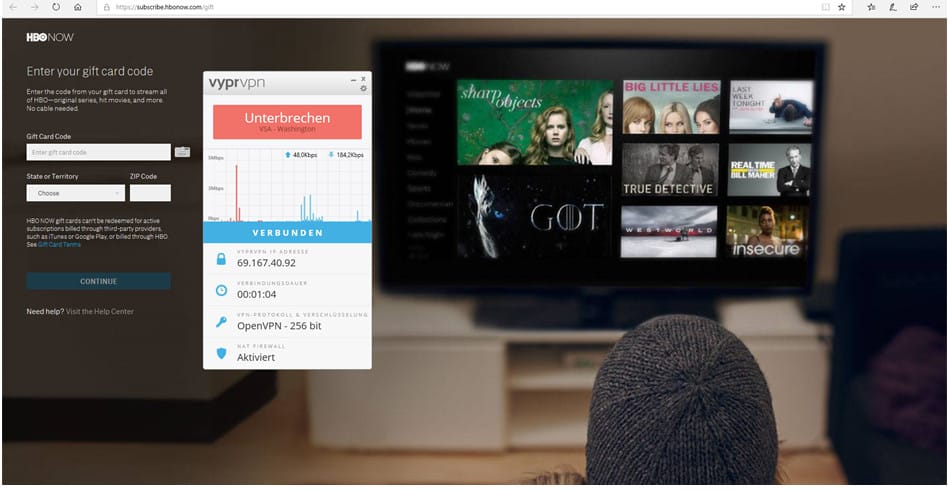 HBO mit einem VPN schauen