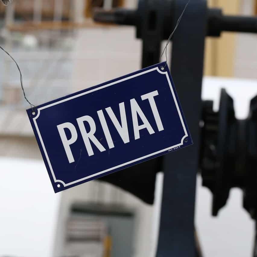 privat schild pixabay