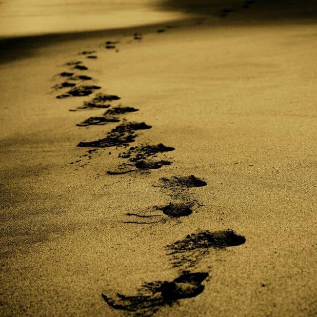 Das Internet vergisst nichts: Fußspuren im Sand