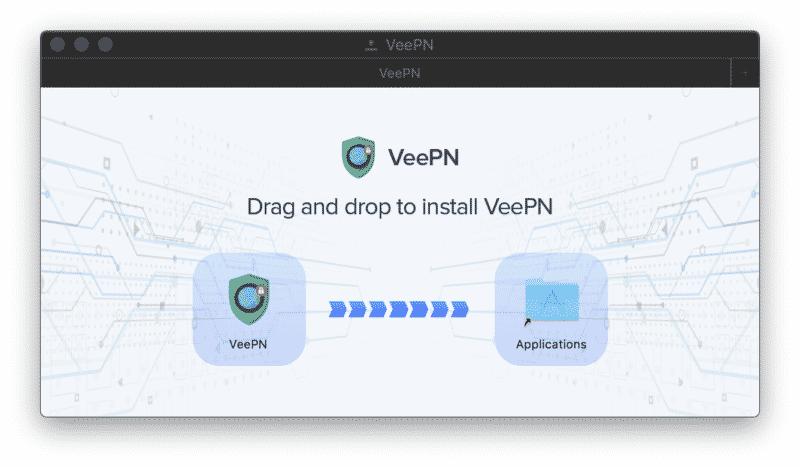 VeePN Anwendung MacOS