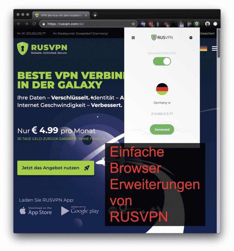 RUSVPN Browsererweiterungen
