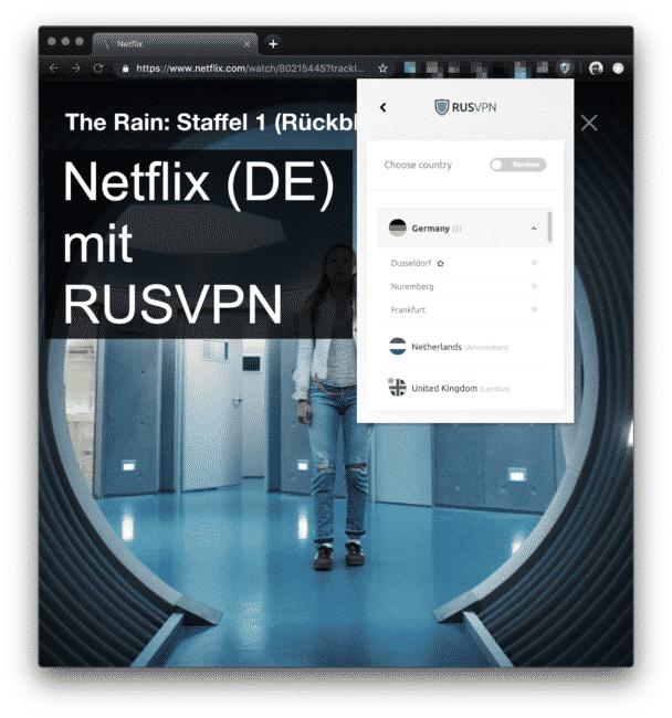 Netflix mit RUSVPN (Deutsche Server)