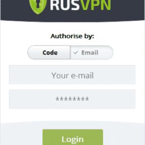 RUSVPN für Windows Anmelden