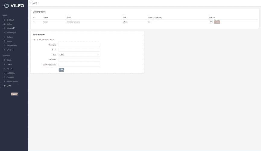 Vifo Benutzerverwaltung im Netzwerk