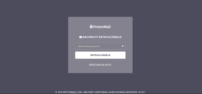 E-Mails entschlüsseln mit ProtonMail