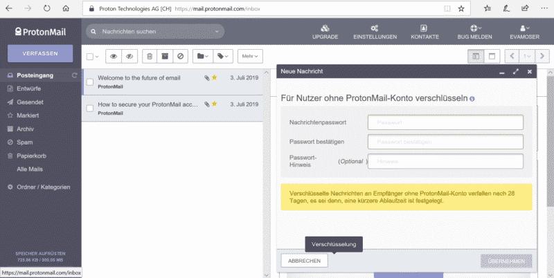 Unsere ProtonMail Erfahrungen - E-Mails verschlüsseln
