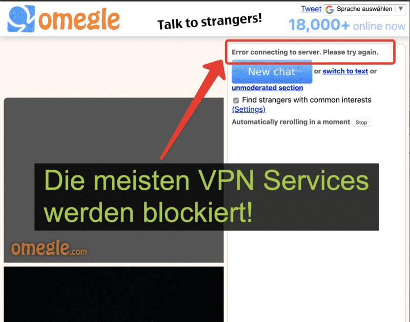 omegle.com blockiert VPN Services