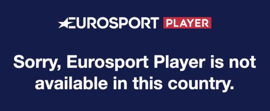 Eurosport Player geografische Sperrre