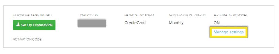 ExpressVPN kündigen bei Zahlung mit Kreditkarte