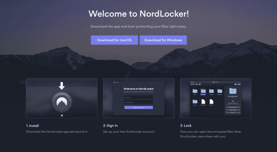 So startest du NordLocker