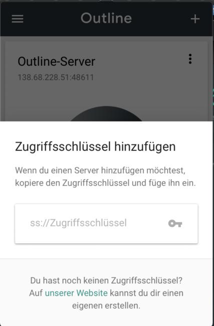 Server KEY einfügen