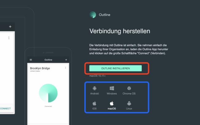 Outline VPN-Client laden & installieren