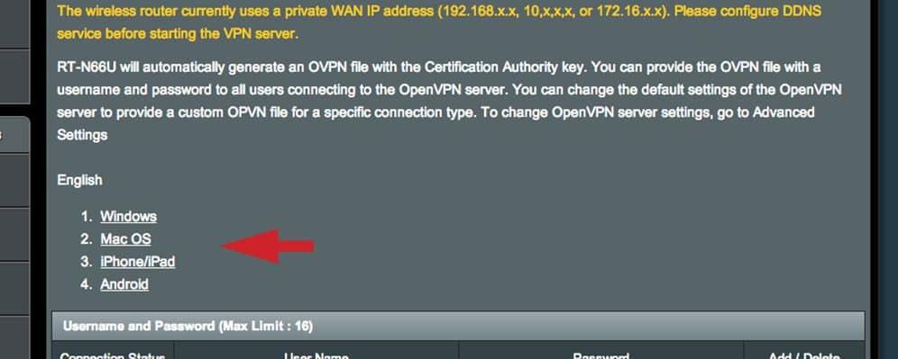 ASUS Router OpenVPN Server einrichten 03