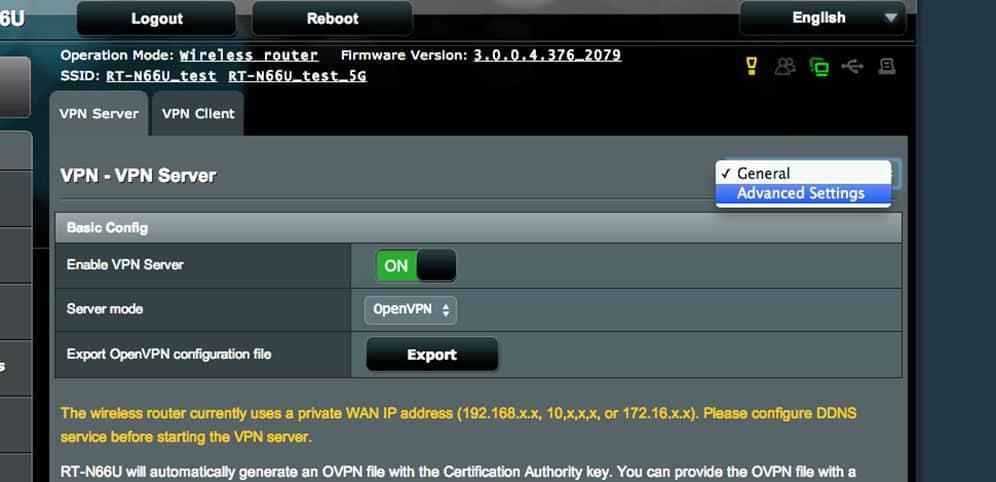 ASUS Router OpenVPN Server einrichten 04