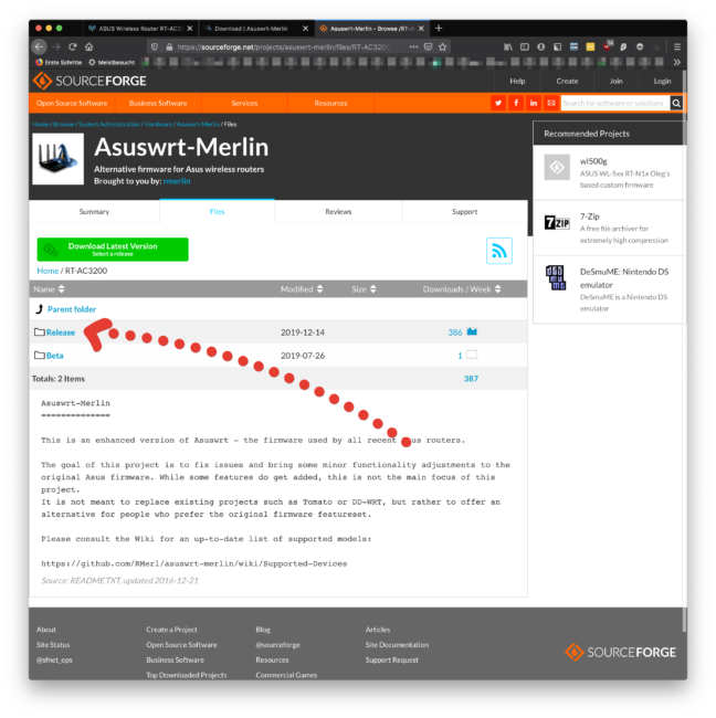 ASUSWRT by Merlin stabile Version