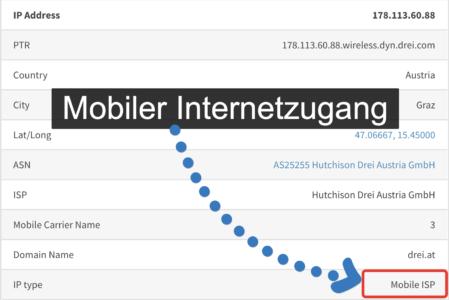 IP Adresse - Mobile