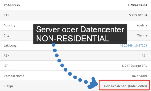 IP Adresse - NON-Residential