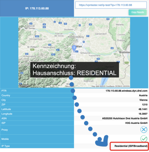 IP Adresse - Residential