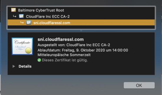 SSL Zertifikat unserer Webseite