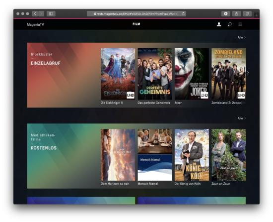 MagentaTV Kino-Filme und Blockbuster