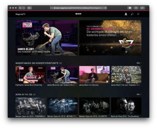 MagentaTV Konzerte und Musik