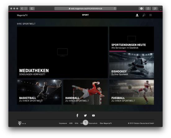 MagentaTV Sportsendungen