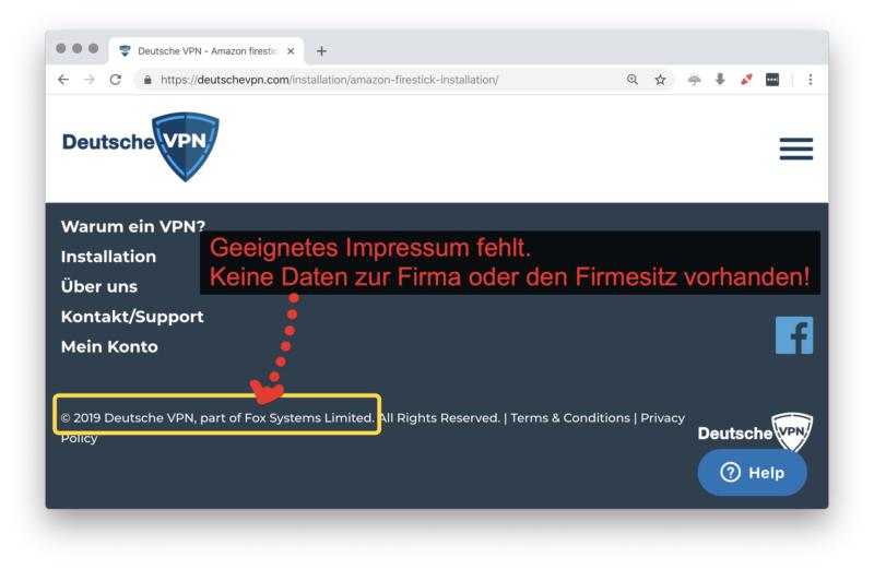 deutschevpn.com Impressum und Anbieterangaben