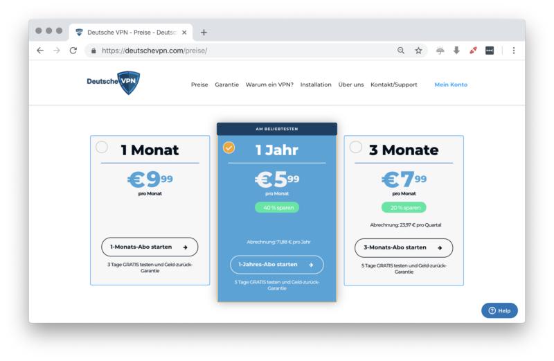 deutschevpn.com - Preise