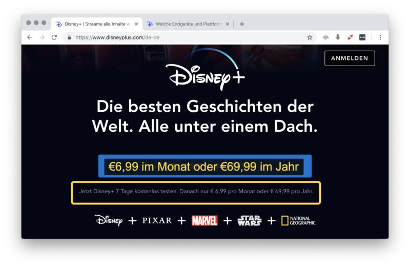 DisneyPlus Preise