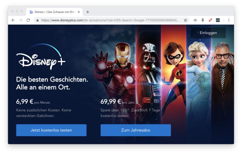 Disney Plus in Deutschland verfügbar