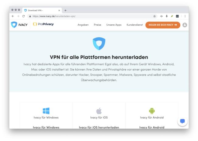 IvacyVPN mit Anwendungen / Apps für alle Geräte verwenden